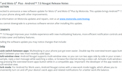 Motorola releases Android 7.0 Nougat update for Moto G4 and G4 Plus in India [Not soak test]