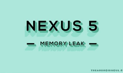 Nexus 5 Memory leak issue via System UI resurfaces with Android 6.0.1 MOB31E