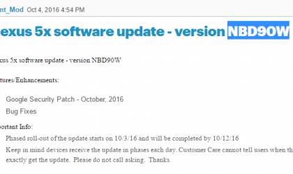 Nexus 5X update: Android 7.1 release details and NBD90W update from Sprint