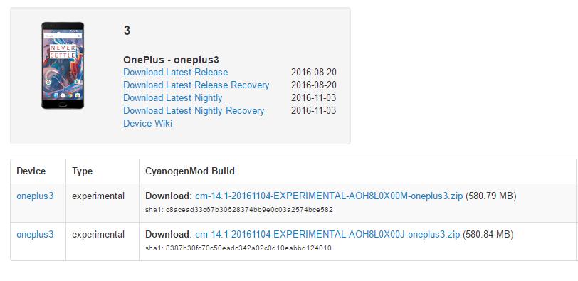 Nougat-cm14.1-OnePlus-3