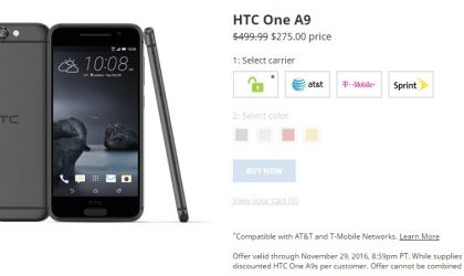 HTC One A9 Black Friday Deal gets you one for $275 only
