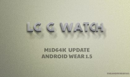 LG G Watch update available with build no. M1D64K