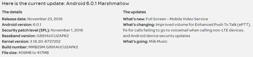 AT&T Galaxy S7 Active gets new OTA update with build G891AUCU2APK2, brings Full Screen Mobile Video Service
