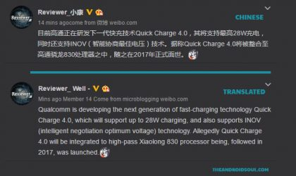 Rumor: Snapdragon 830 to feature Quick Charge 4.0