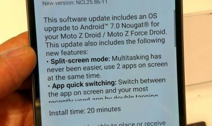 Moto Z Droid and  Z Droid Force update: March security patch arrives as software version NCLS25.86-11-4-6-8 from Verizon