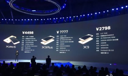 Vivo X9 X9 PLus and Xplay 6 price announced!