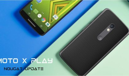 Moto X Play Nougat update status and release date