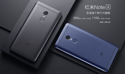 Redmi Note 4 in Blue released by Xiaomi, available as 64GB variant only