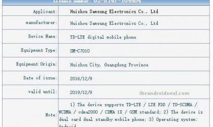 Galaxy C7 Pro release rumored for January 21