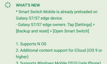 Samsung Nougat release anticipated as Smart Switch app updated with that effect