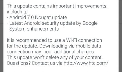 HTC 10 Nougat update rolling out in UK
