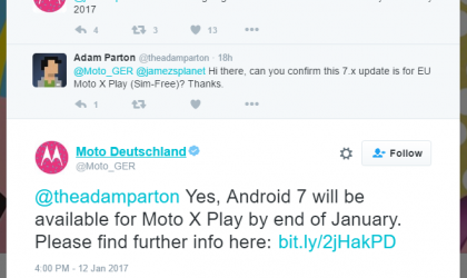 Confirmed: Moto X Play Nougat update to come by January end