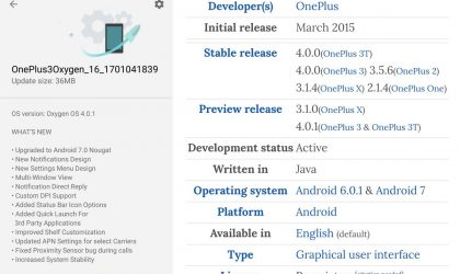 OnePlus 3 OxygenOS 4.0.1 dev preview released, OTA zip not yet available