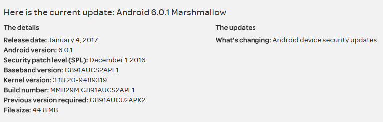AT&T Galaxy S7 Active gets PL1 update, installs December security patch