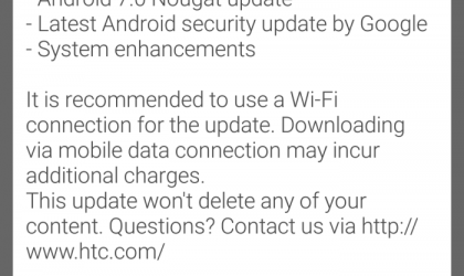 HTC releases One A9 Android 7.0 Nougat update OTA, build 2.18.617.1