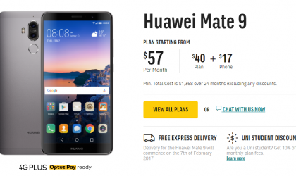 Huawei Mate 9 up for pre-order via Optus in Australia