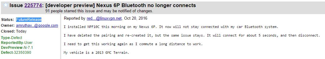 Nexus 6P Bluetooth connectivity FIX coming soon in next update: Google