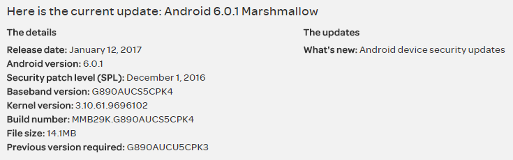 Galaxy S6 Active update: AT&T rolling out March security patch as build G890AUCS6CPK8