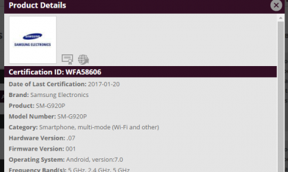 Sprint and Verizon Galaxy S6 Nougat update to release soon, certified already