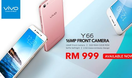 Vivo Y66 launched in Malaysia with RM 999 price tag