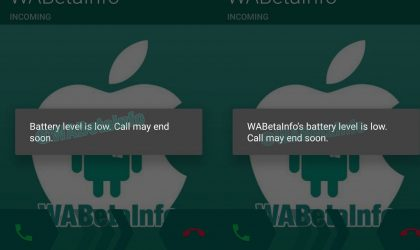 Latest WhatsApp beta update includes low battery notification during calls