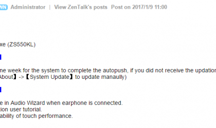 Asus Zenfone 3 Deluxe receiving OTA update, includes new features and improved touch performance
