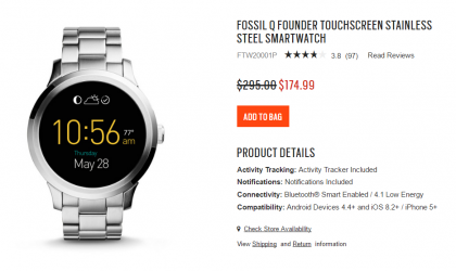 [Deal] Fossil Q Founder smartwatch available at $174.99