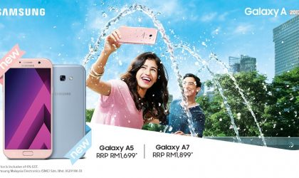 Samsung Galaxy A7 2017 and A5 2017 Peach Cloud (pink) and Blue Mist color options launched in Malaysia