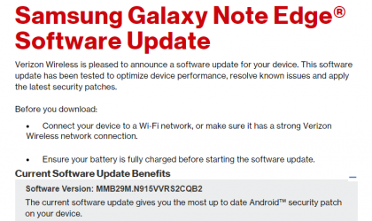 Verizon Galaxy Note Edge receives February security patch update, build N915VVRS2CQB2