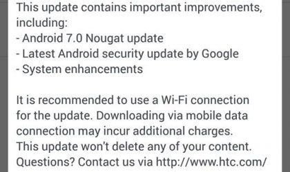 HTC 10 Nougat update rolling out in Hong Kong, build 2.41.708.3