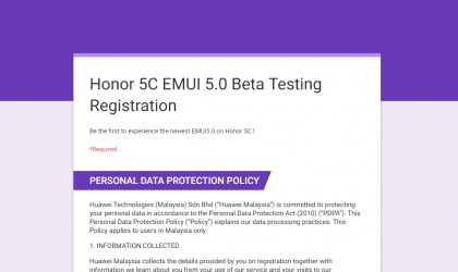 Huawei Malaysia begins Honor 5C Android 7.0 Nougat update beta program