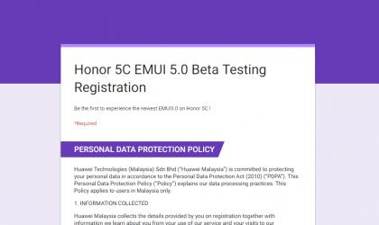 Huawei Malaysia begins Honor 5C Android 7.0 Nougat update beta program