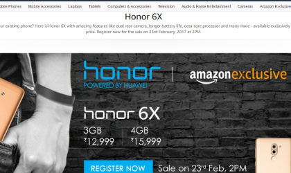 Huawei Honor 6X back on sale in India on February 23