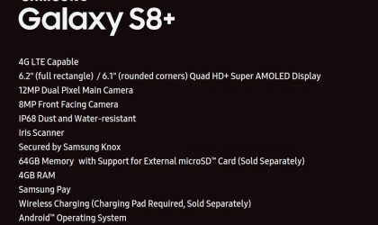 Samsung Galaxy S8 Plus specifications leaked in full