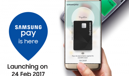 Samsung Pay is releasing in Malaysia on February 24, 2017, Galaxy S7 Edge giveaway on offer too