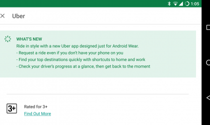 Uber app update gets friendly with Android Wear, introduces home and work shortcuts too