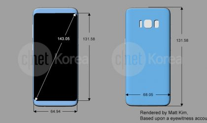 Fresh Galaxy S8 render reveals dimensions and design of the device