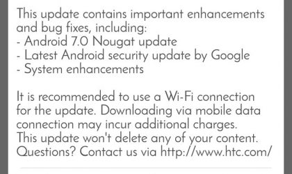HTC One A9 in Taiwan now rocks Nougat update with version 2.16.709.3