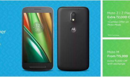 Flipkart Deal: Motorola Moto Z, Z Play, Moto M, Moto 360 and Moto Mods on discount