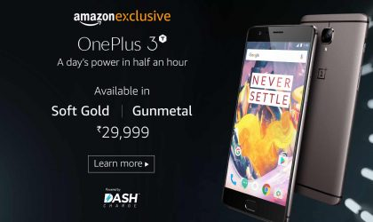 OnePlus 3T deal: Amazon India offers 10% cashback