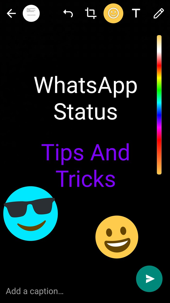 8 cool new whatsapp status tips and tricks. Black Bedroom Furniture Sets. Home Design Ideas