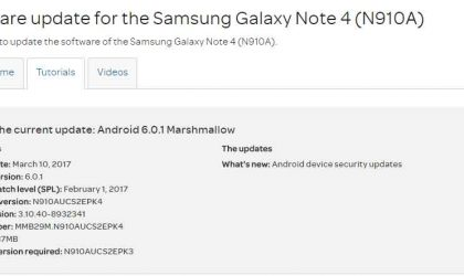 AT&T Galaxy Note 5, Note 4 and S5 Active have February patch OTA update rolling out