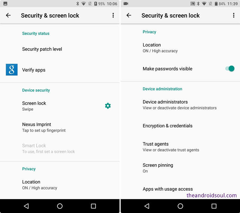 Android-O-security-and-screen-lock-settings