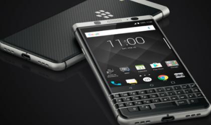 BlackBerry KEYone fingerprint scanner is beneath the space bar on keyboard