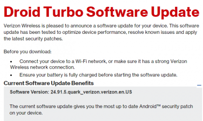 Verizon Droid Turbo also gets February security update, build 24.91.5