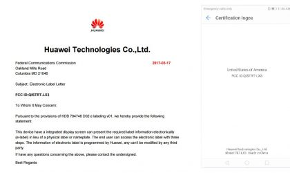 Huawei TRT-LX3 (Honor V9?) clears FCC with 3900mAh battery