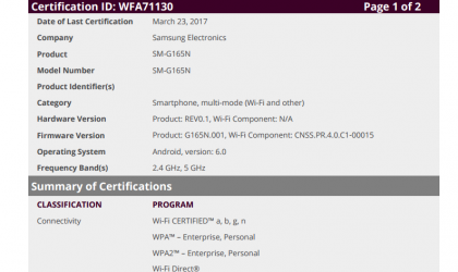 Samsung Galaxy Folder 2 LTE reaches Wi-Fi Alliance, nears its release