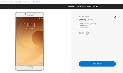 Galaxy C9 Pro releases in Vietnam