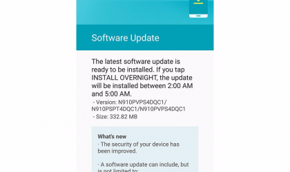 Sprint Galaxy Note 4 receiving a huge OTA update with March security patch, build N910PVPS4DQC1