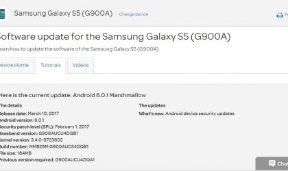 AT&T rolling out Galaxy S5 and Note Edge OTA update carrying February security patch